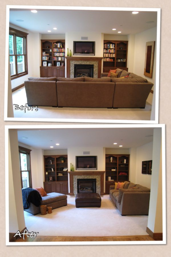 What to do with a sectional when you stage a home for How to home stage